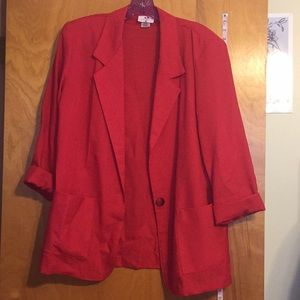 Vintage red blazer jacket